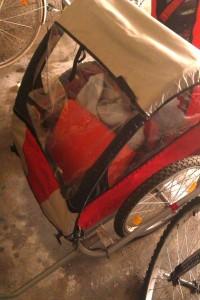 Dann habe ich noch schnell den Fahrradhänger erfolgreich verkauft