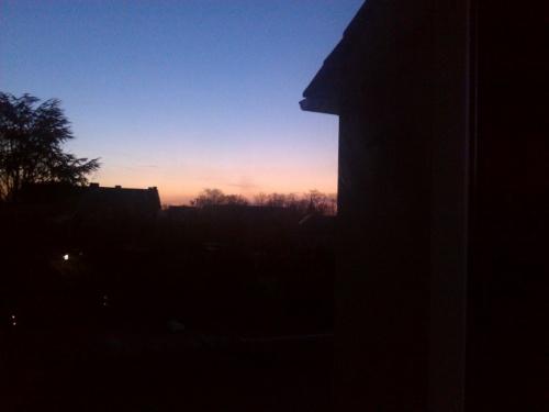 Freitag morgen um 8 Uhr. Man sah den Sonnenaufgang, einfach schön