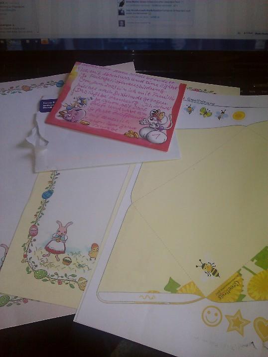 Stöckchen – Brief und Postkarten